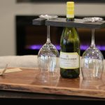 Wine Bottle and Glass Holder 1